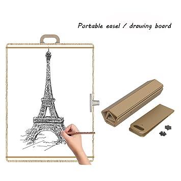 Caballete De Pintura De Mesa/Tablero Para Pintar - Portátil Plegabletabla De Dibujo Ajustable Para