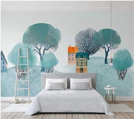 Papel tapiz Simple estilo nórdico IKEA Woods Hill TV Fondo de ...