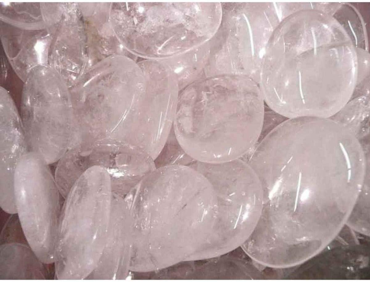 Piedra Cuarzo Blanco Plana Minerales y Cristales, Belleza energética, Meditacion, Amuletos Espirituales