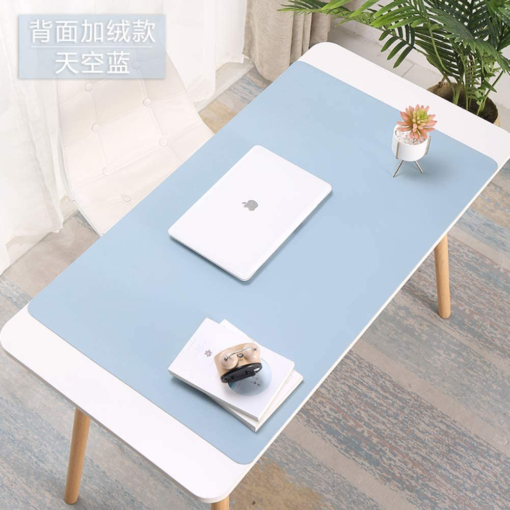39x20inch YUMUO Leather Desk Pad,Double Side Mouse Mat Desk Protector Waterproof Mat Writing Pad Desk Mat for Office and Home-e