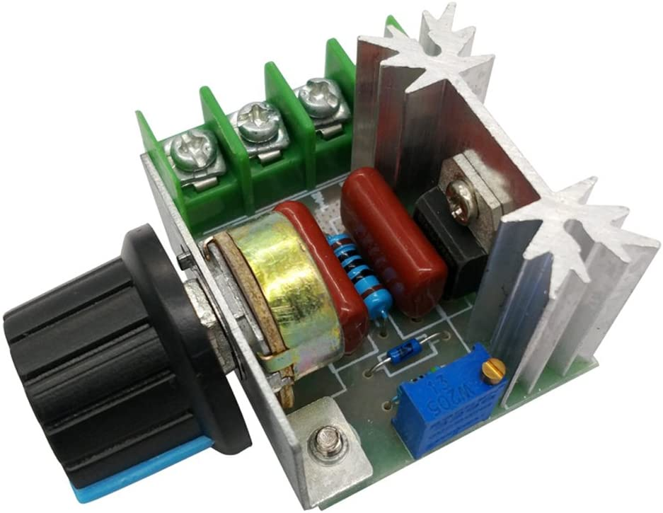 PWM AC Motor Speed Controller 50-220V 25A Adjustable Motor Speed Controller Voltage Regulator 2000W AC Motor Speed Controller