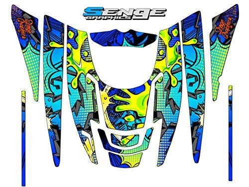 2010 Polaris EDGE Zany Blue graphics kit ()