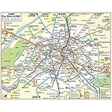 Plan de ville : Métro Rer (plan plastifié)