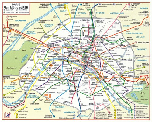 Plan RER Paris