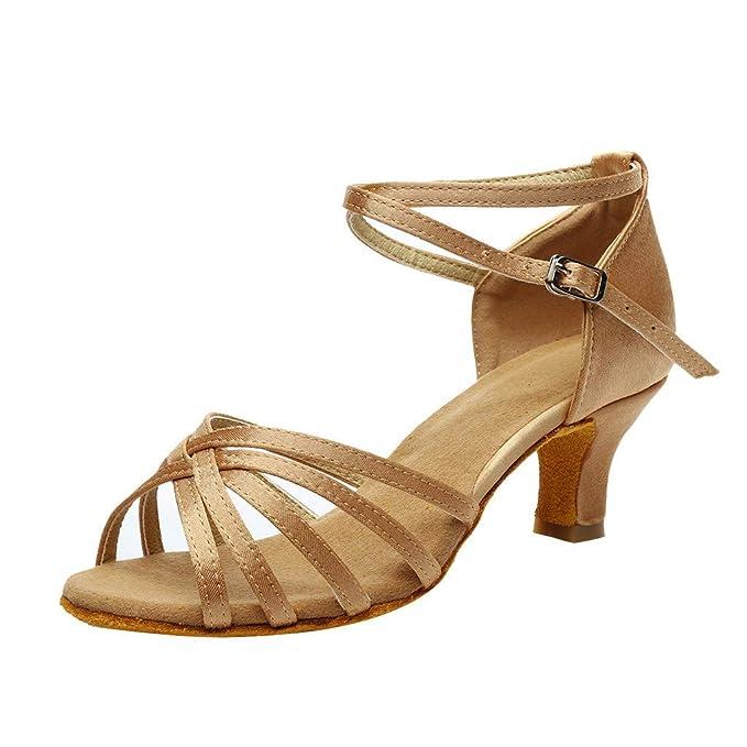 JiaMeng sandalias de mujer Cuña Alpargatas Plataforma Color Fashion Rumba Waltz Prom Ballroom Salsa Latina Zapatos de Baile Sandalias: Amazon.es: Ropa y ...