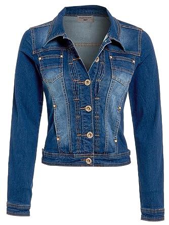 ee77679d206d NEUF pour Femmes Veste en jeans délavé Moyen Bleu Taille S - XXL - délavé  Moyen