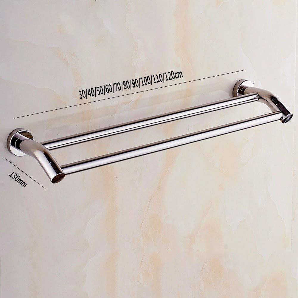 Porta asciugamani doppio in acciaio INOX da parete MAICHIHUOY per bagno 30 cm Doppel Stange