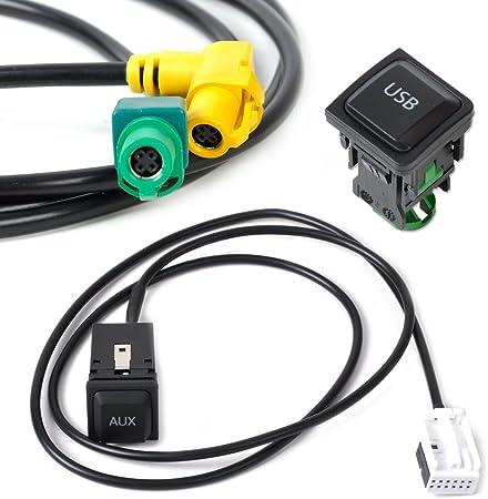 Eastar Usb Aux Schalter Stecker Kabel Kit Für Vw Golf Jetta Scirocco Auto