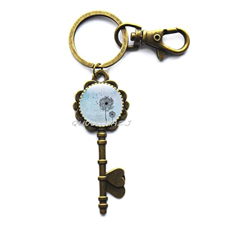 Amazon.com: Diente de león clave Anillo de llave, llavero ...