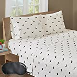 ice cream crib sheet - HipStyle Olivia 200 Thread Count Dachshund Printed 3-Piece TWIN Size Sheet Set in Black/Ivory with Sleep Mask