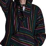 Orizaba Original Baja Baja Hoodie - Thin Stripe Rasta Zigzag - Half Moon Bay M