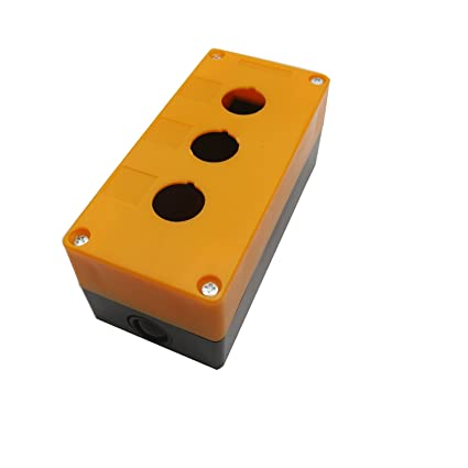 ZXHAO Push Button Switch Control Station Box 3 Hole 22mm 55//64 inch Dia.