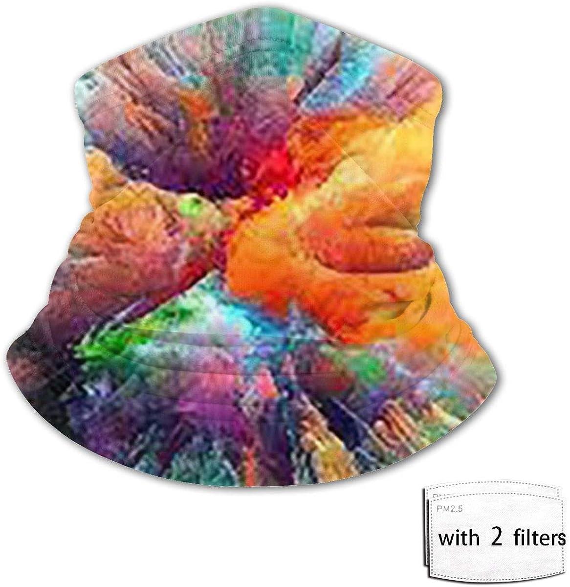 chenguang4422 Polaina para el cuello Pañuelo Pintura al óleo Pasamontañas Variedad Toalla de cara Bufanda Cubierta de babero de seda de hielo a prueba de viento con filtro