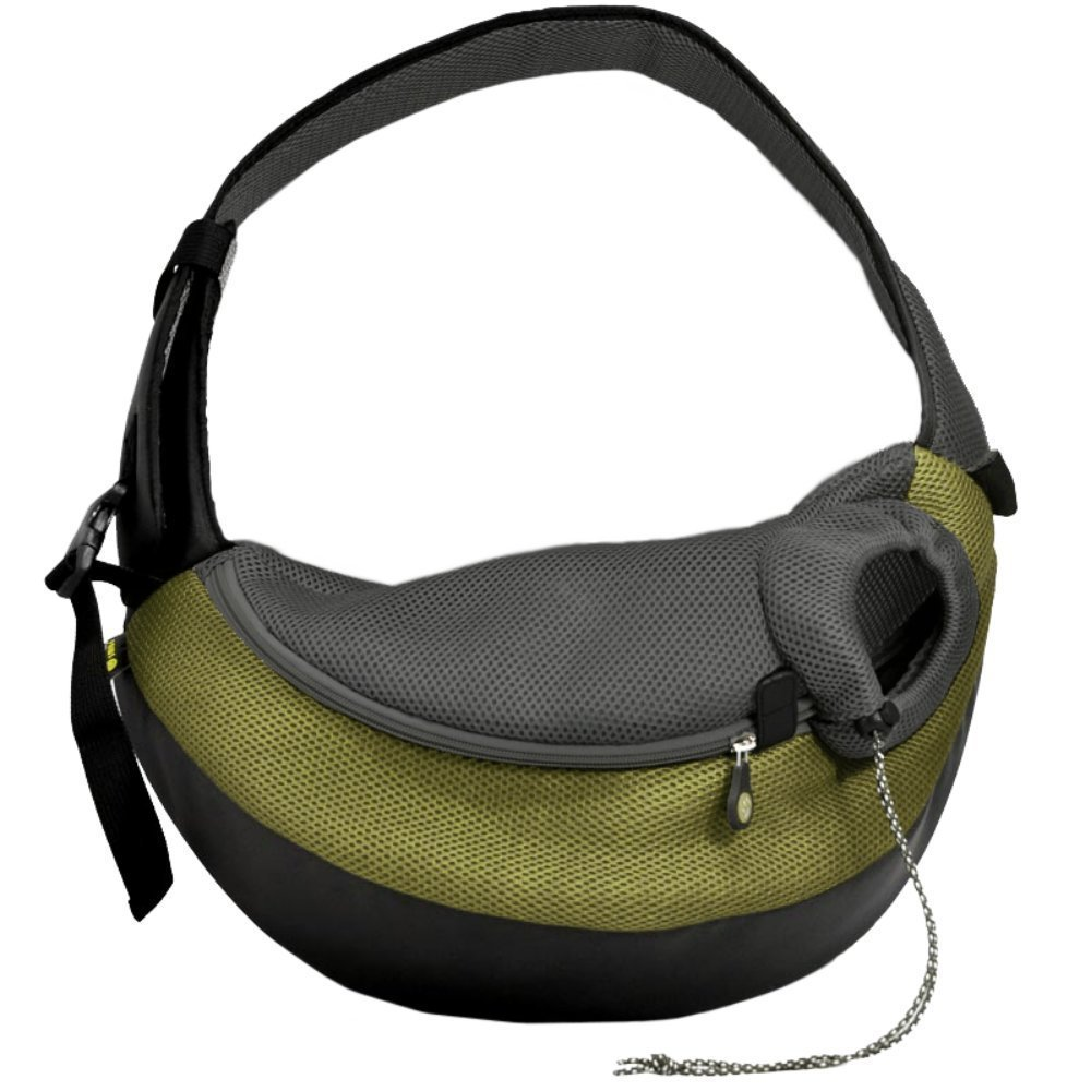 Olive Small Olive Small Wacky Paws Comfortable Pet Sling, Small, Olive