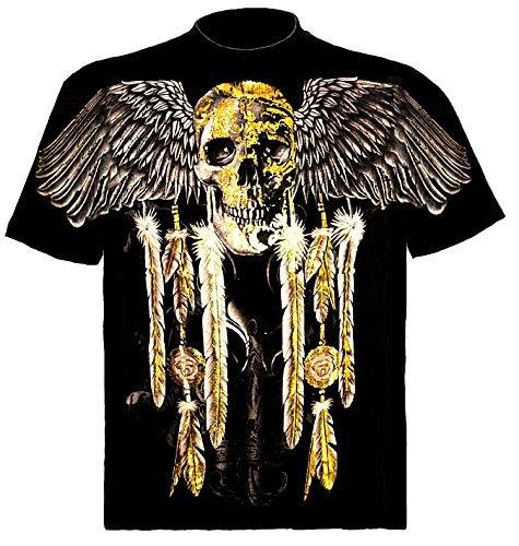 Skull Shirt TOTENKOPF MIT FEDERSCHMUCK