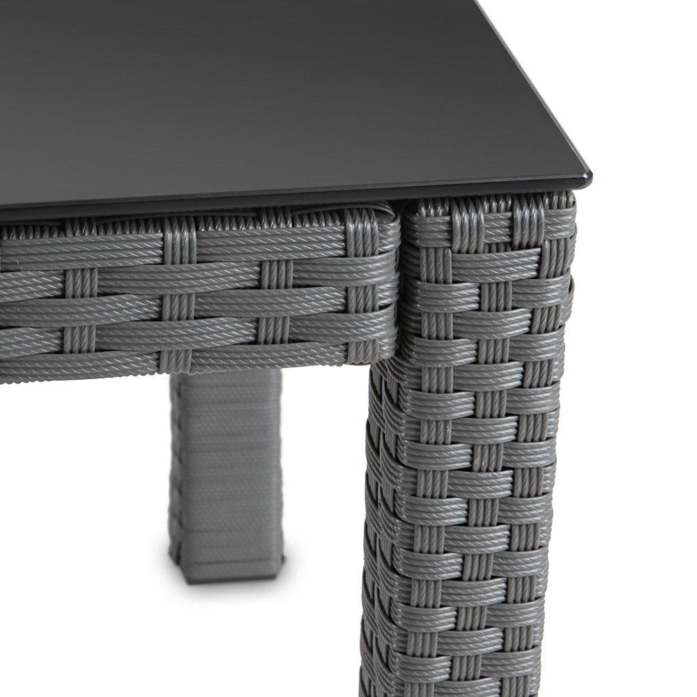Amazon.de: Hochwertiger Polyrattan Tisch Teetisch Beistelltisch für ...