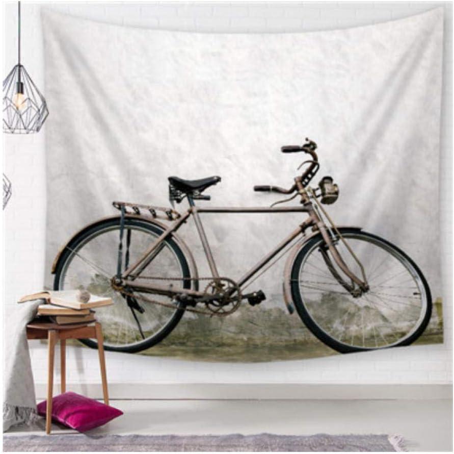 FFCLZ Bicicleta Paisaje Impreso Mandala Tapiz Tapiz Playa Playa ...