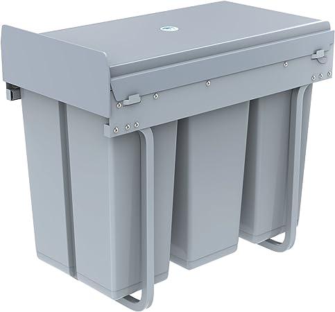 1home Poubelle Recyclable Compatiment A Tirer Pour Cuisine 30l