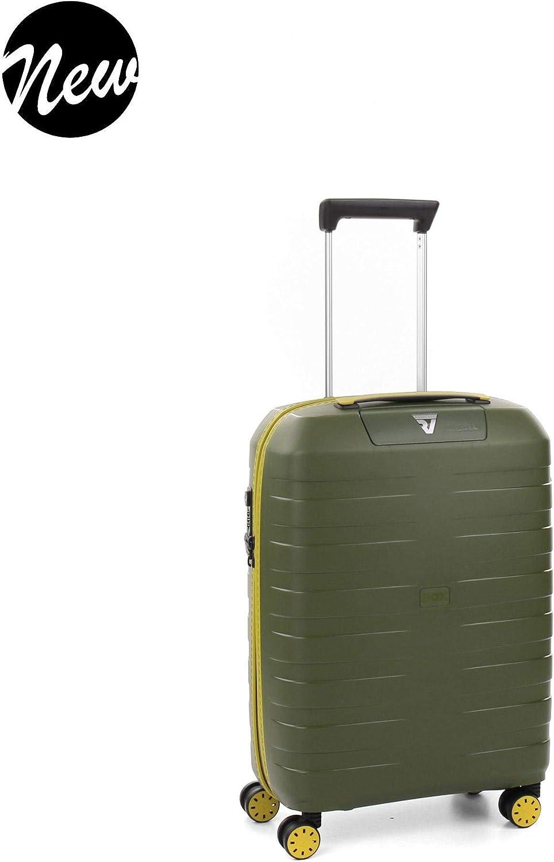 Roncato Box Young Maleta Cabina avión Kiwi, Medida: 55 x 40 x 20 cm, Capacidad: 41 l, Pesas: 2.20 kg, Maleta Cabina avión ryanair