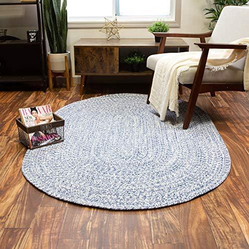 Super Area Rugs Farmhouse Braided Rug Cotton Kitchen Reversible Carpet