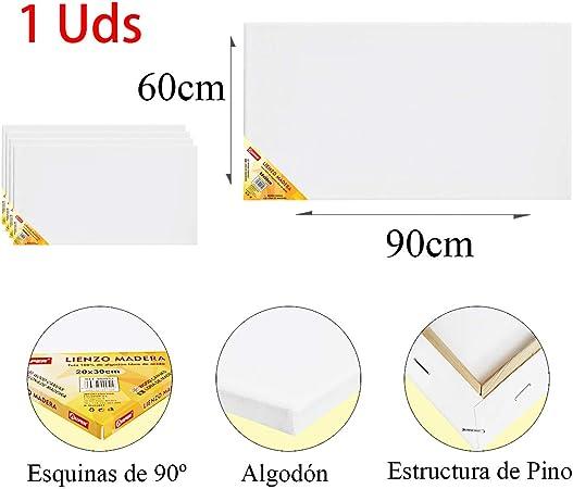 Pack de 1 lienzos 60 x 90 cm de 100% algodón apto para óleo ...