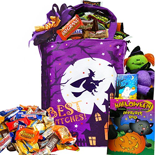 Best Witches Candy and Snacks Gift Tote - Halloween Gift (Halloween Costume Ideas For Two Boys)