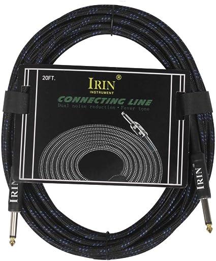 Leezo - Cable de 6 m para guitarra eléctrica, línea de bajo ...
