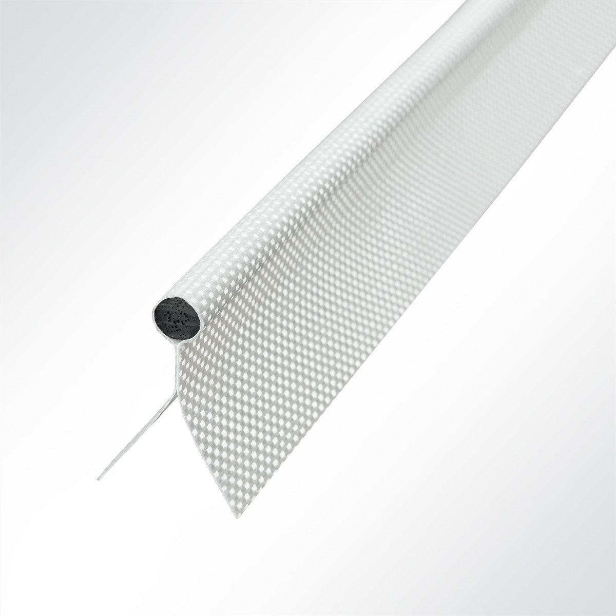 LYSEL Kederband 5,50mm doppelfahnig weiß , (L) 5m