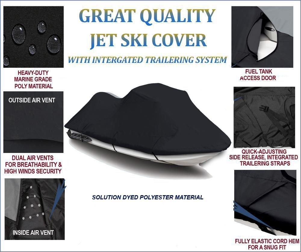 BLACK 600 DENIER JET SKI COVER Sea Doo Spark 3up 900 H.O ACE 2014-2017 2018