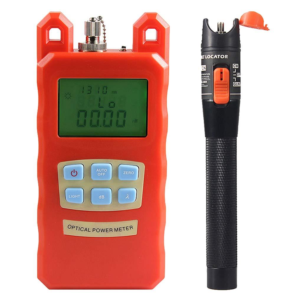SM SunniMix Pack -70dBm~+10dBm 850~1625nm Optical Power Meter Tester FC SC Handheld Optical Power Meter + 10mW Visual Fault Locator Pen by SM SunniMix (Image #4)