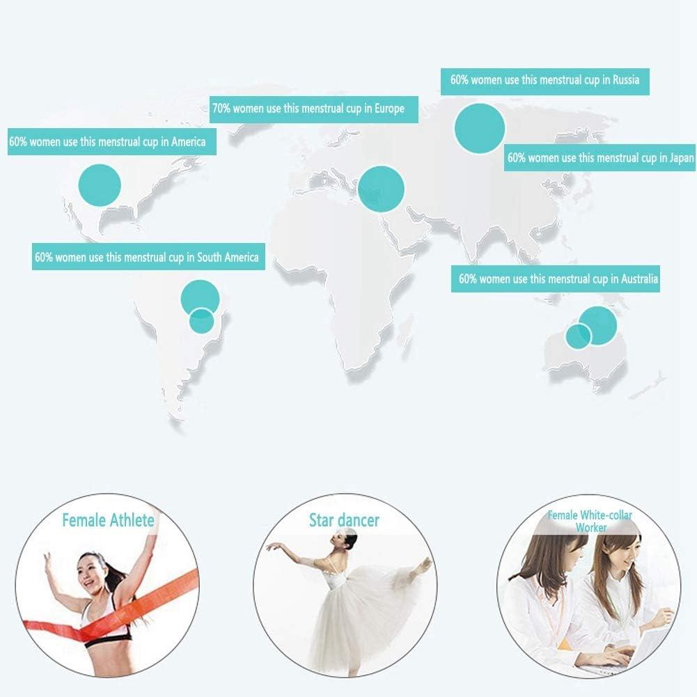 Copa menstrual de silicona, higiene femenina reutilizable ...