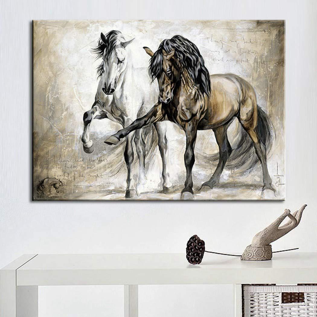 XINGMUZSH Peinture D/écorative Jet dencre HD Cheval R/étro Noyau De Peinture sans Cadre pour D/écoration De Maison /À Jet dencre HD 30X40Cm