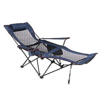 Klappstuhl camping  HM&DX Outdoor Klappstühle Camping stühle mit fußablage Verstellbar ...