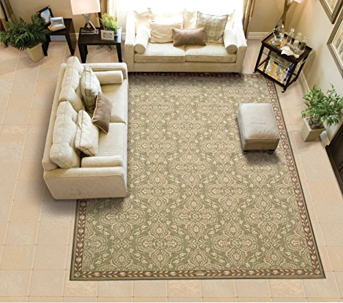 (Nourison Riviera (RI01) Green Runner Area Rug, 2-Feet 3-Inches by 8-Feet  (2'3