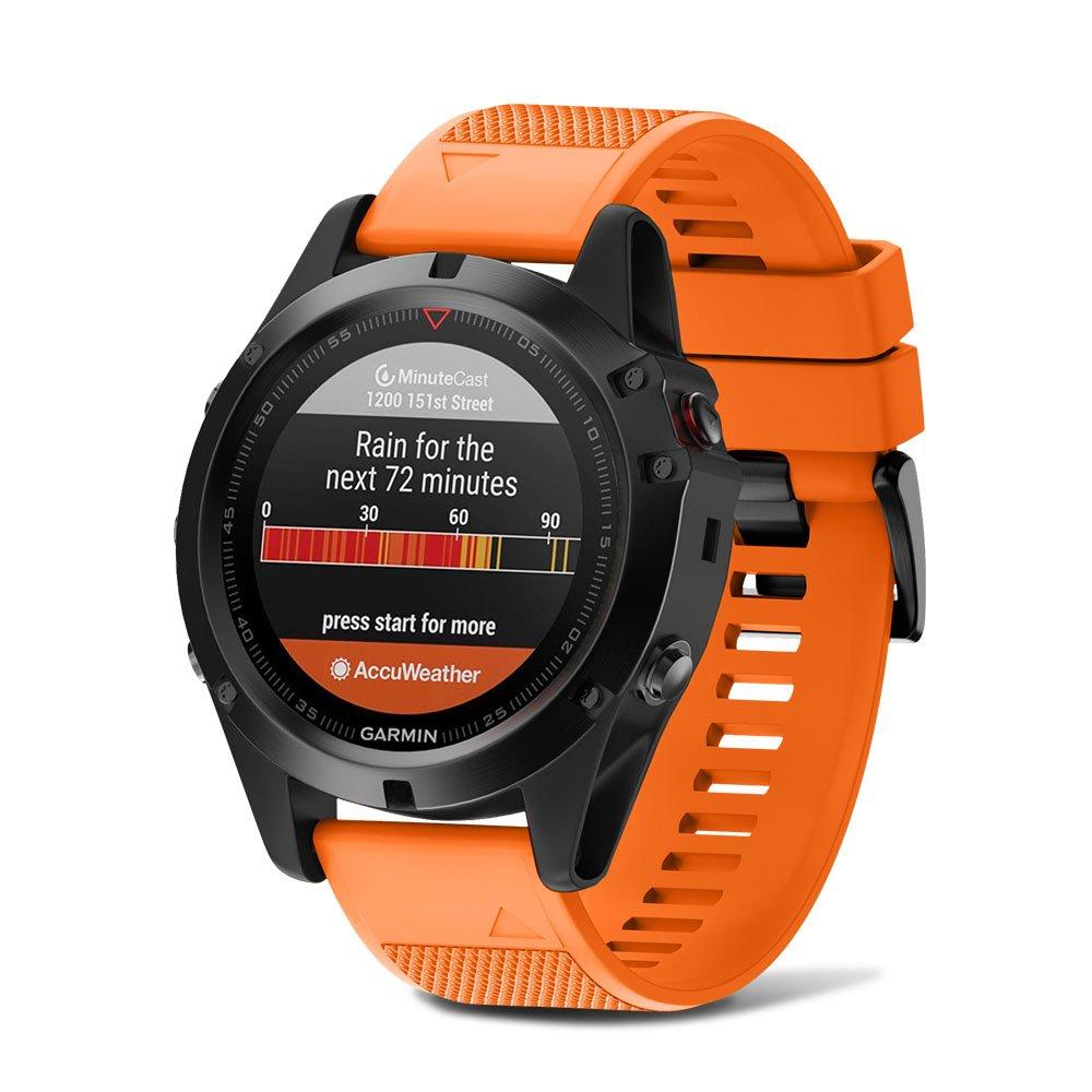 Notocity Compatible Fenix 5X Band 26mm Width Soft Silicone Watch Strap for Fenix 5XFenix 5X Plus//Fenix 3/Fenix 3 HR Smartwatch-6pcs by NotoCity (Image #2)
