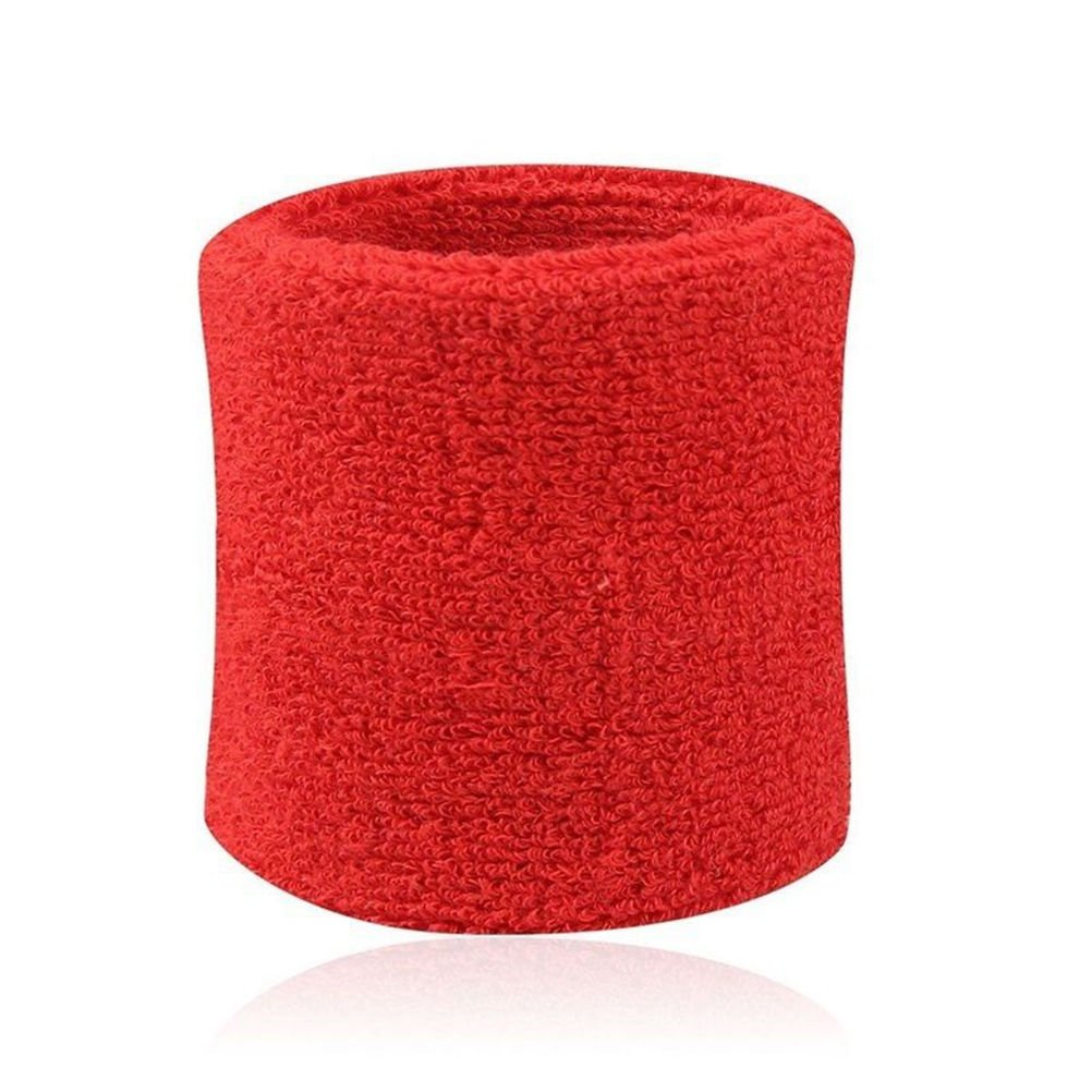 7thLake 1 Pair Sweatbands Sport Wristband Cotton Elastic Sweatbands For Tennis Squash Gym Accessory Run-baby