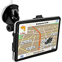 """GPS Navigator,7"""" GPS Navigator with Free Lifetime Maps,800x480 Touch Screen GPS Navigation Stereo System with 8GB Memory for Car,Advanced Lane Guidance and Spoken Turn-By-Turn Directions (Black GPS)"""