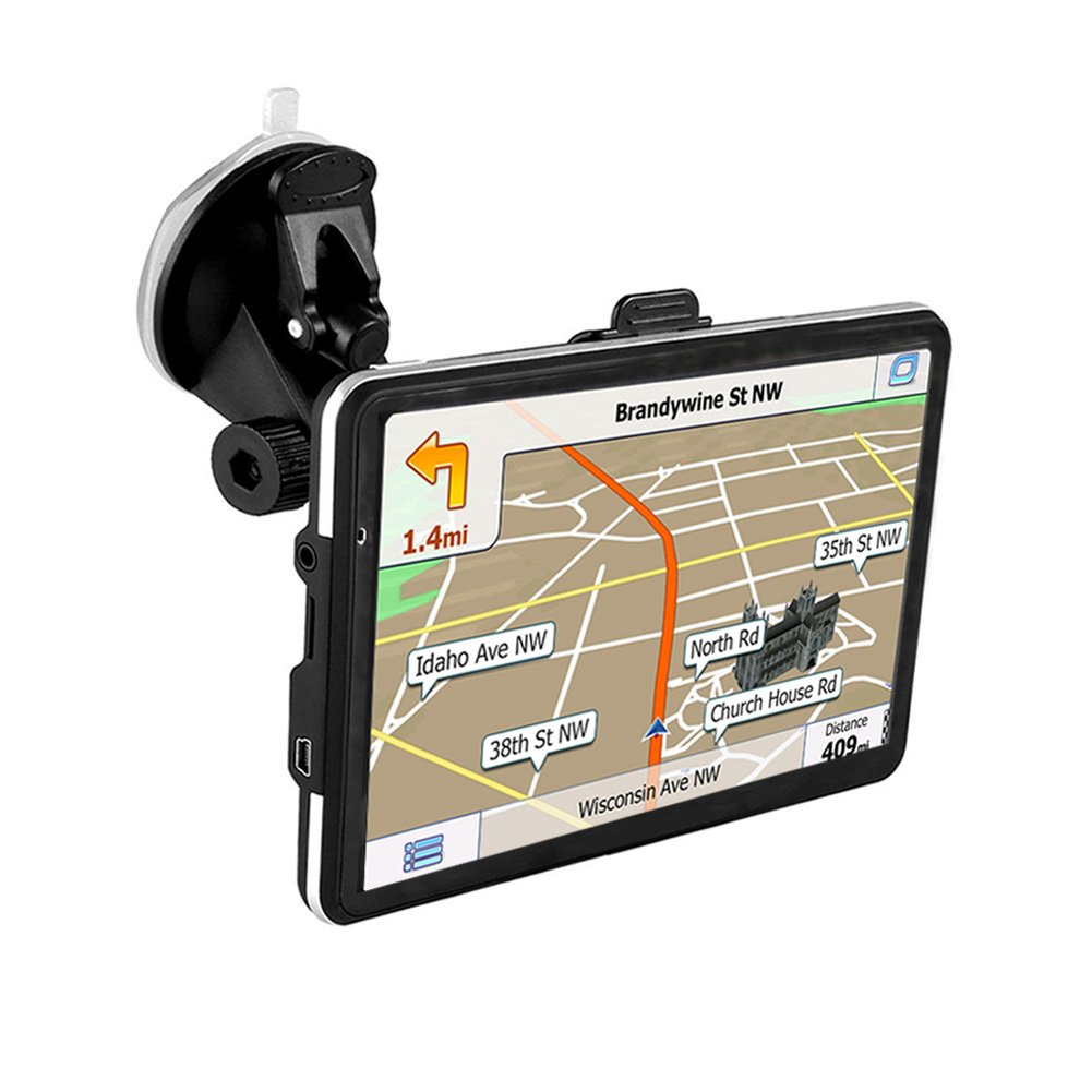 GPS Navigator,CCsky 7'' Drive GPS Navigator with Free Lifetime Maps,800x480 Touch Screen GPS Navigation Stereo System with 8GB Memory for Car,Advanced Lane Guidance and Spoken Turn-By-Turn Directions