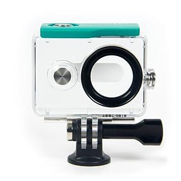 YI Action Camera Waterproof Case: Green Verde Carcasa de ...