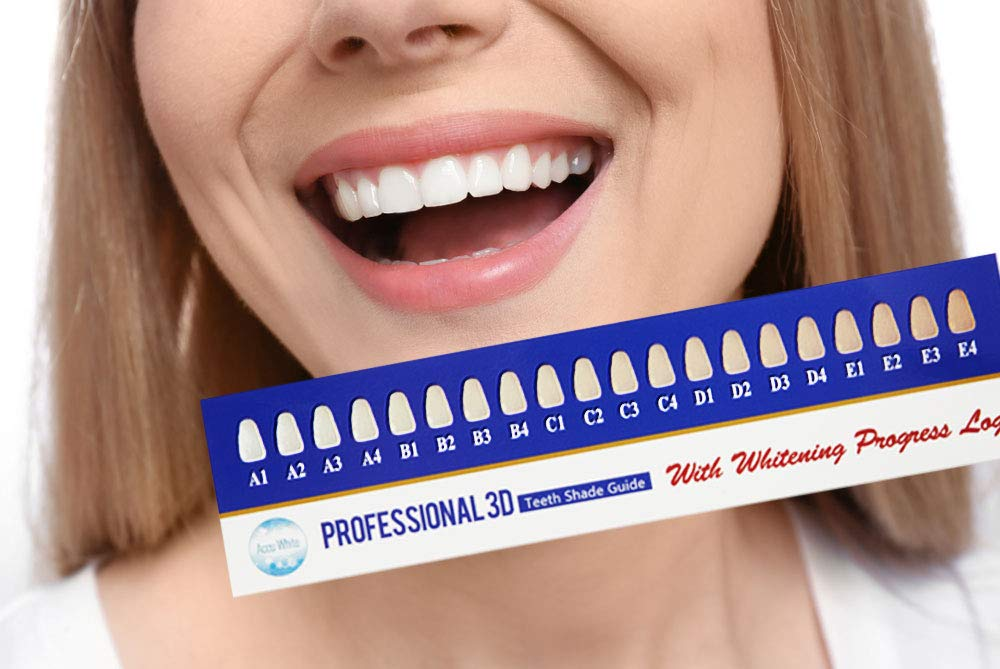 Amazon 6 Pack Professional 3d Teeth Shade Guide With Whitening