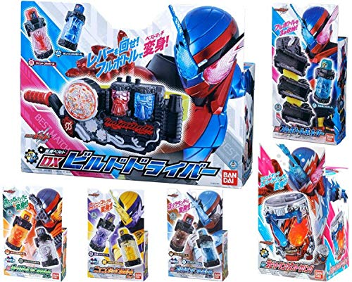 Bandai Kamen Rider Build DX Build Driver & DX Rabbit Tank Sparkling & Full Bottle Holder & 9 Types Full Bottle Special Set Best Match ! are You Ready ?