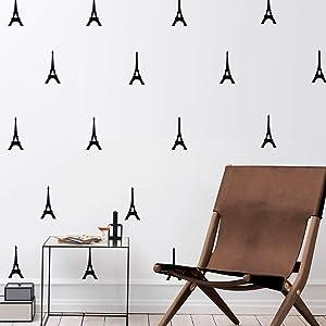 Set of 12 Vinyl Wall Art Decal - Eiffel Towers - 4