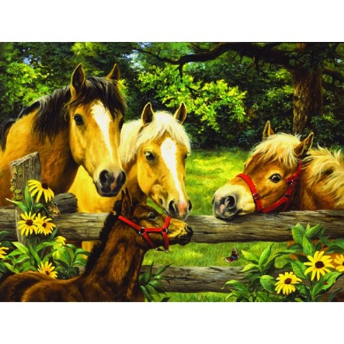 Friends, Neighbors & Sunflowers 500 pc Jigsaw Puzzle