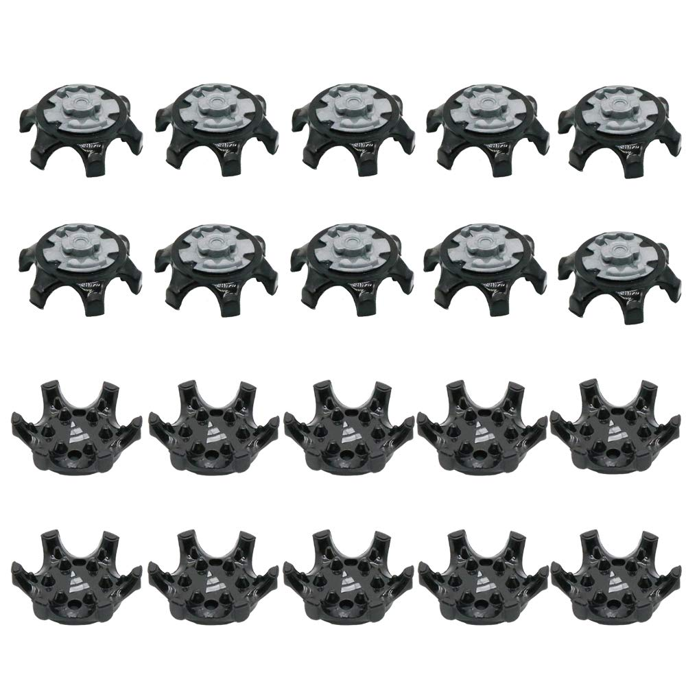 ouxinli Easy Replacement Spikes Cleats Golf Shoes Black 20Pcs by ouxinli
