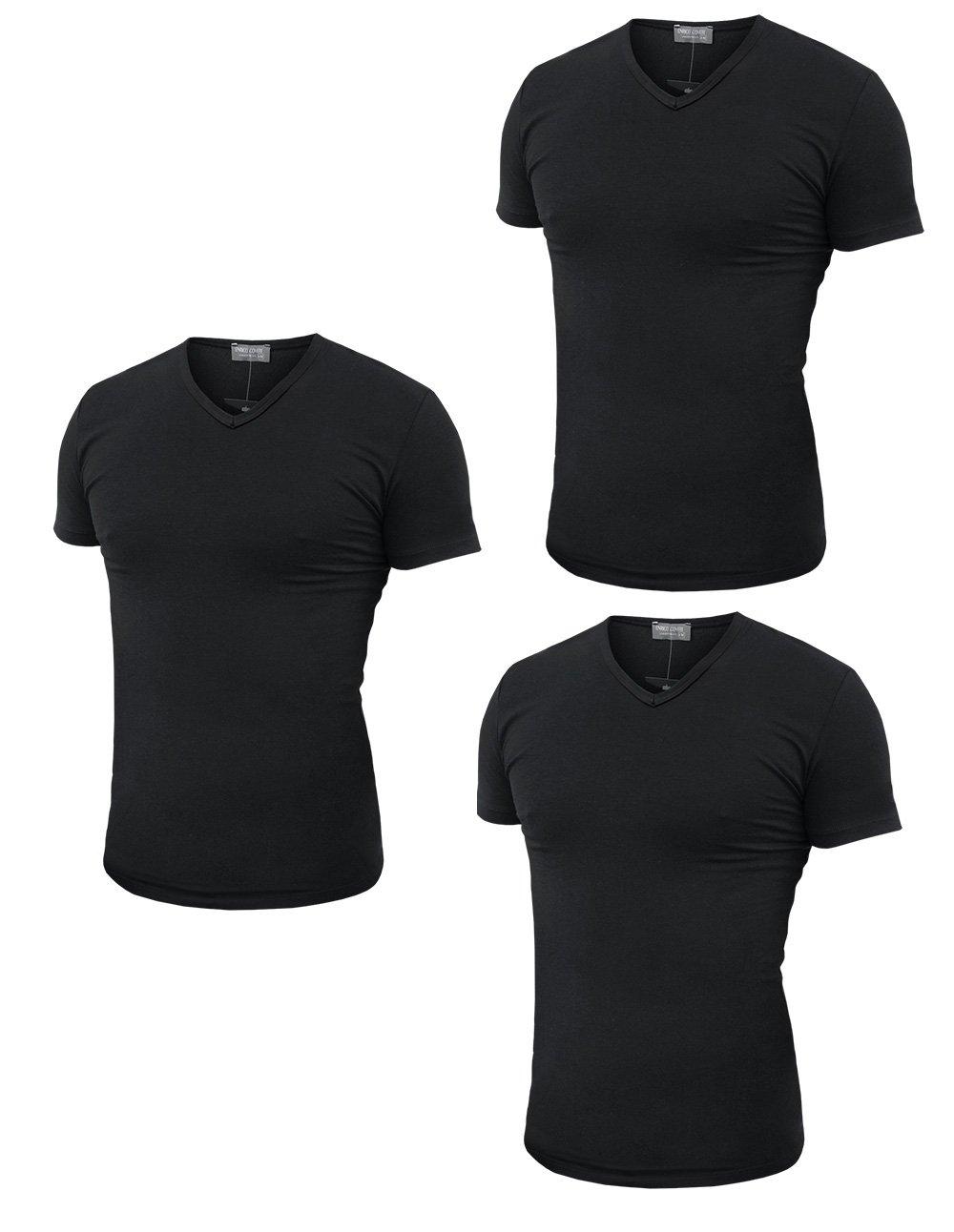 3 t-shirt uomo mezza manica scollo a V in cotone pettinato ENRICO COVERI art. ET1101