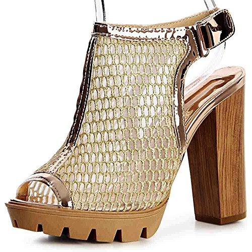 Or Sandalettes Femmes 824 Sandales Topschuhe24 qZwB0Yn