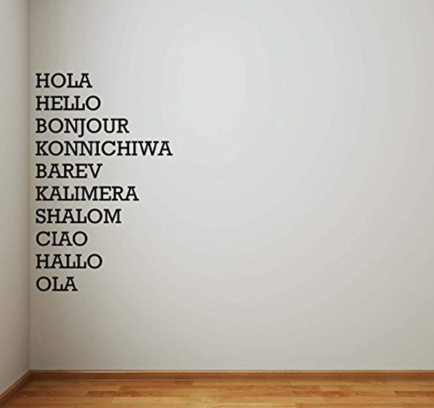 Amazon.com: Hello in Different Languages Vinyl Wall Decal Hallway ...