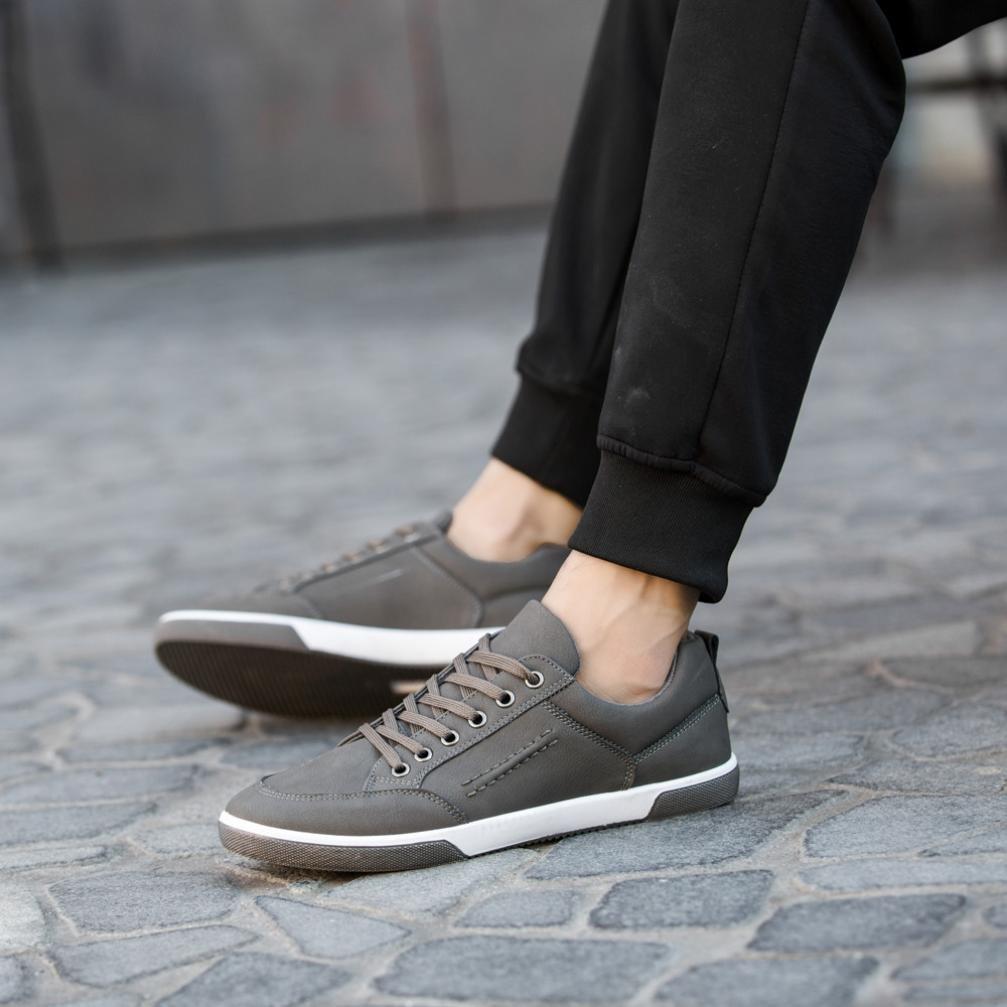 Zapatos de hombre Zapatillas de deporte de hombres de moda Inteligente Casual Estilo británico Deporte Corriendo Zapatos LMMVP (Gris, 41): Amazon.es: ...