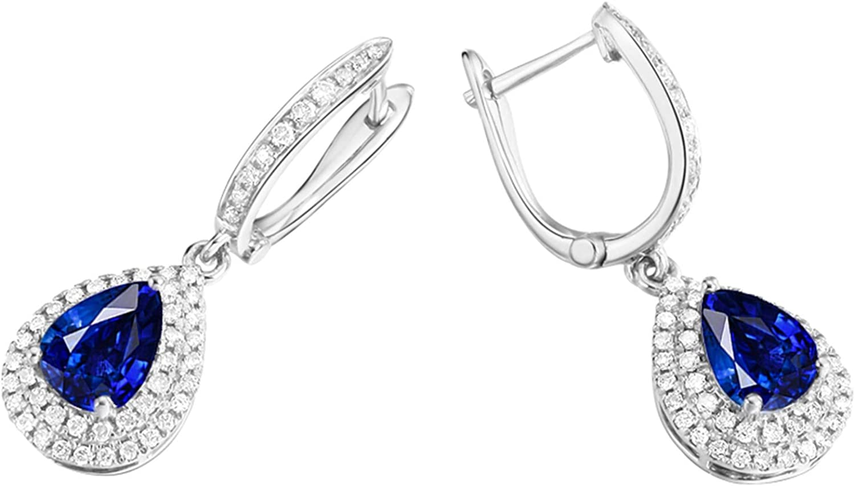1//2 Carat 4 mm CR Rose Sapphire /& Diamant Boucles d/'oreilles en argent sterling