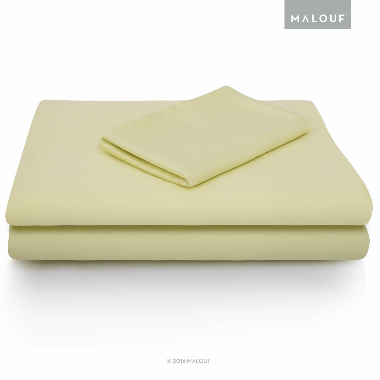 MALOUF 100% Rayon from Bamboo Sheet Set - 4-pc Set - King
